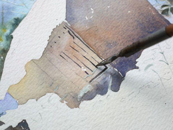 Aquarelle Watercolor Baraque Neige 17 Cours De Peinture A L