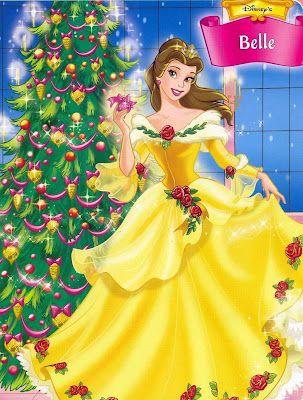 2 Disney Princess Belle Christmas Day Wallpaper