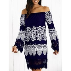 9.67$  Watch now - http://viyrf.justgood.pw/vig/item.php?t=wdqvdsx54346 - Off-The-Shoulder Laciness Paisley Dress 9.67$