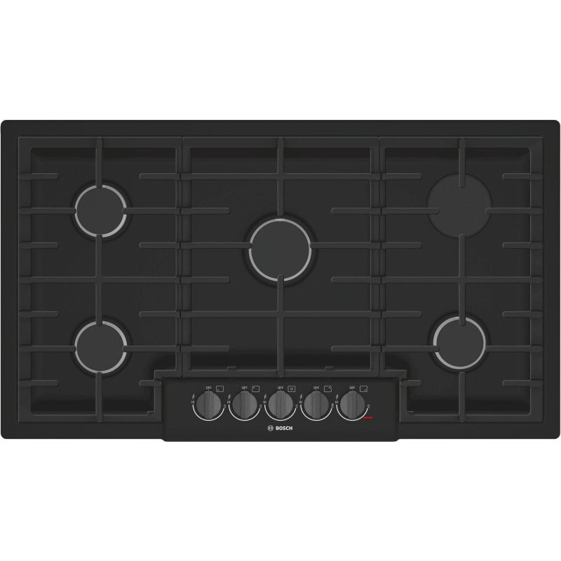 Bosch Ngm8646uc 800 Series 36 Inch Wide Built In Gas Cooktop With 5 Sealed Burne Black Cooktops Cooktop Gas In 2020 Black Stainless Steel Red Led Lights Cool Things To Buy