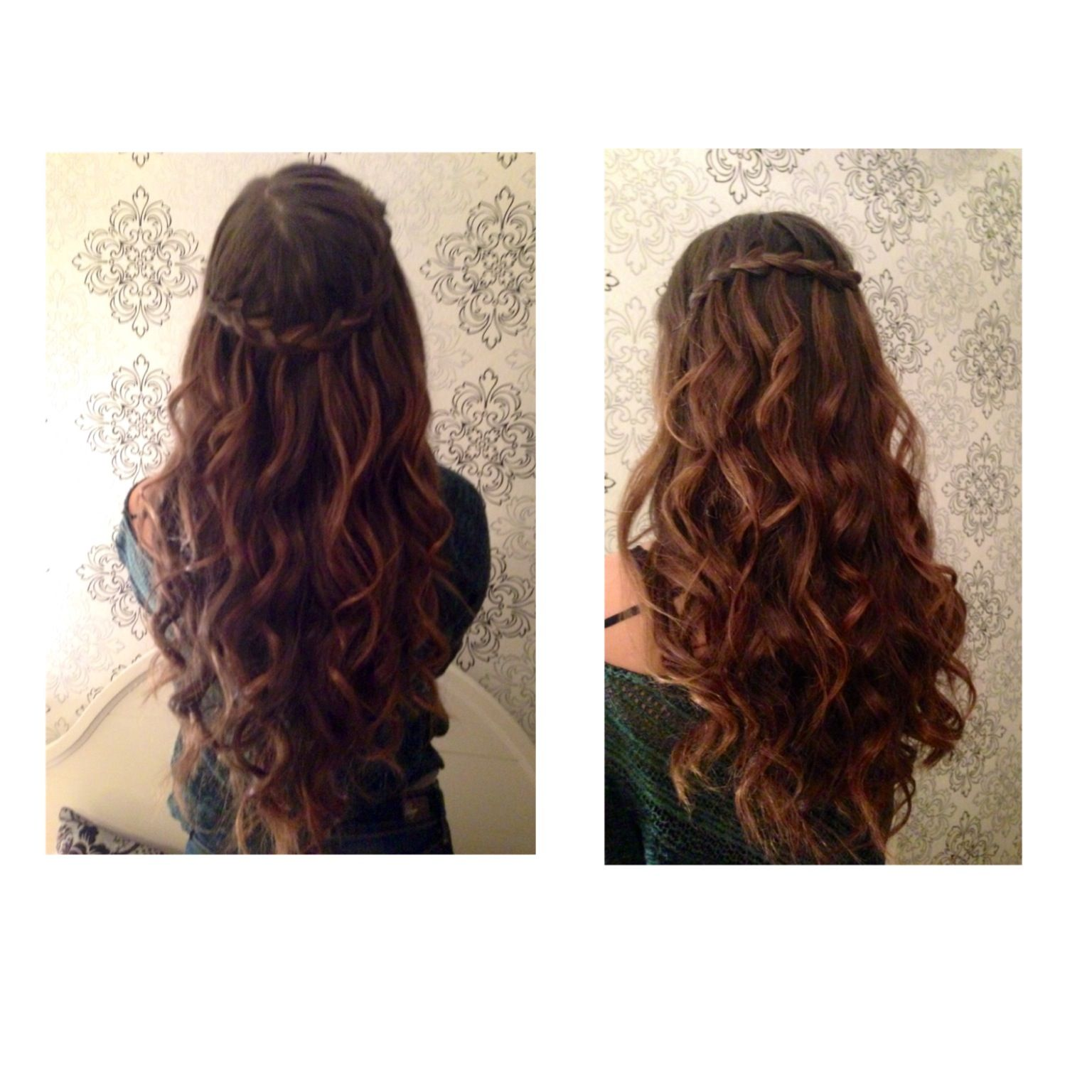 winter formal hair | hair | dance hairstyles, long hair