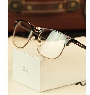 5fedb9d2523 Free shipping Metal half-rim frame glasses retro men reading Glasses UV  protection glass without magnification wholesale US  7.68