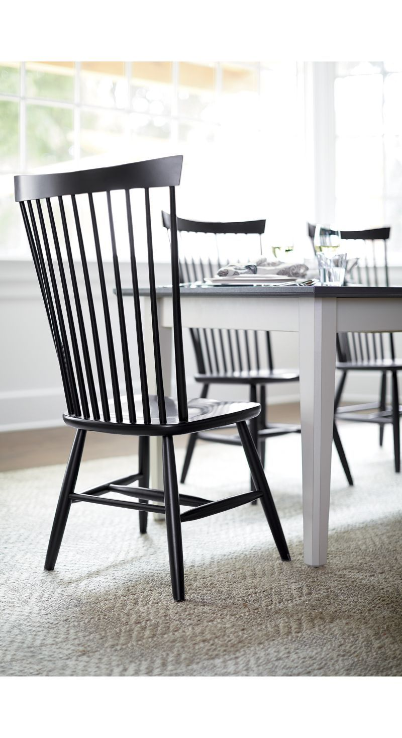 marlow ii black wood dining chair crate and barrel marlow