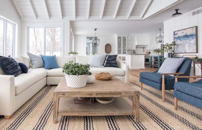 The Sullivan Family Room Sectional Dream Living Rooms Blue Living Room