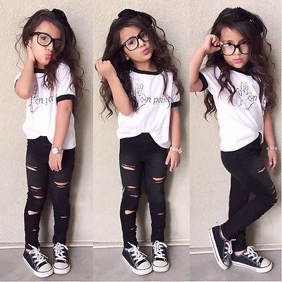 Girls Casual Short T & Pant Set | Girls clothing sets, Little girl fashion,  Girls summer outfits