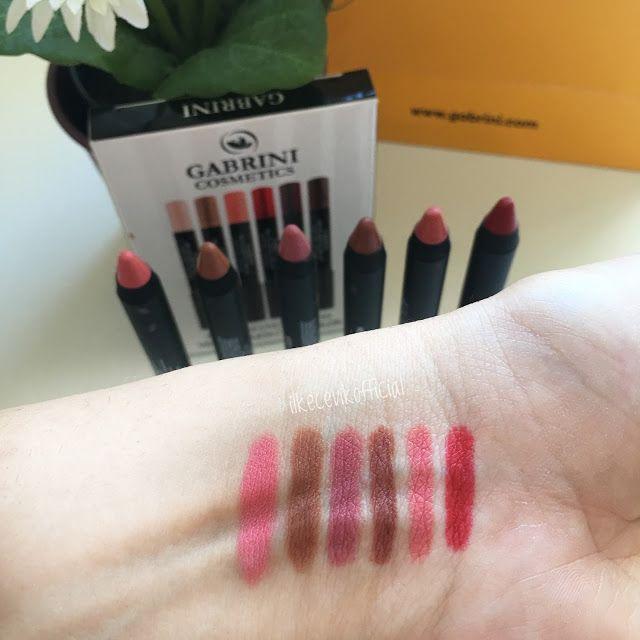 Cadının Kozmetik Kazanı Gabrini Cosmetics Mat Kalem Rujlar Makeup