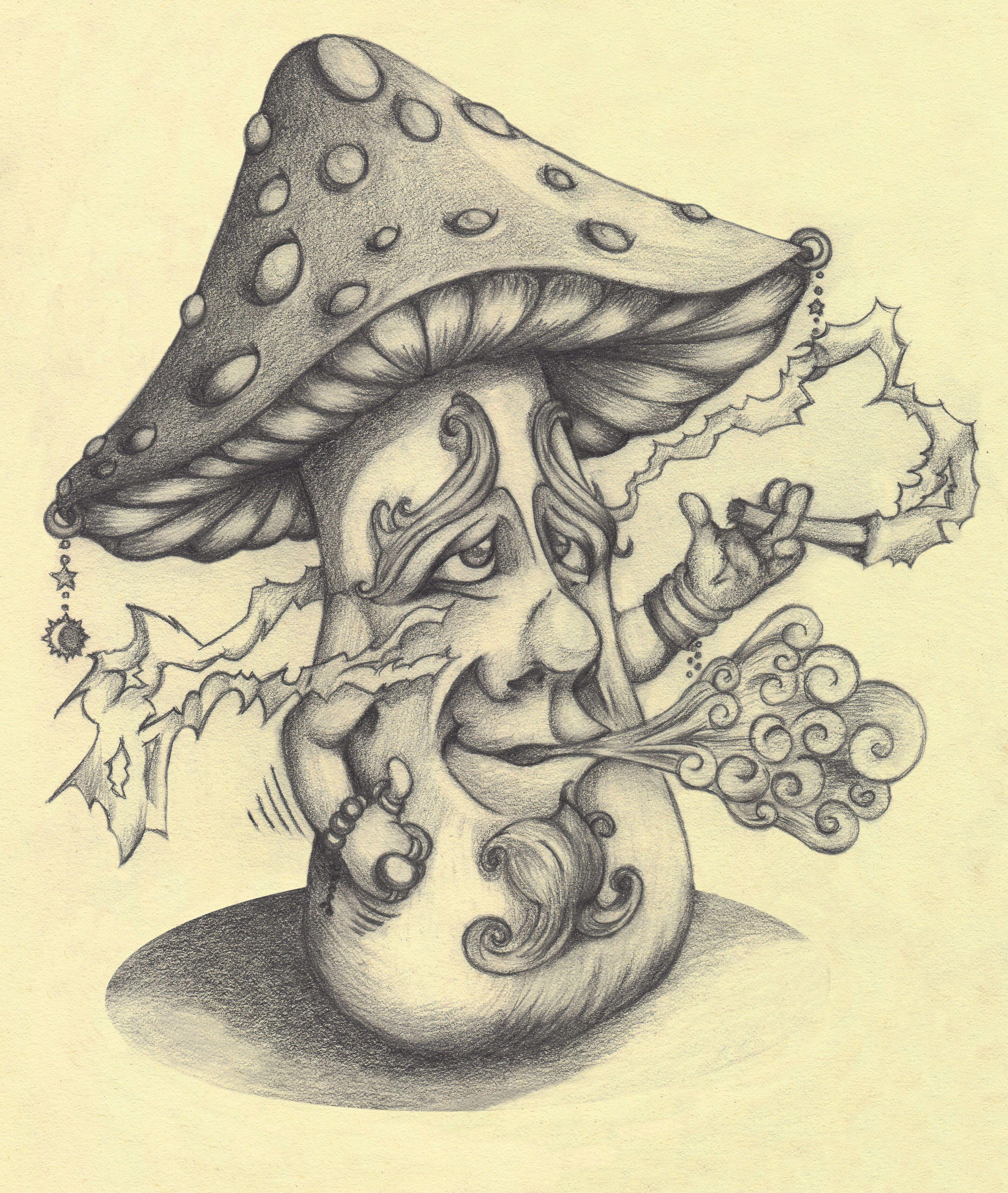 Magic mushrooms draw | Design | Pinterest | Mushroom drawing