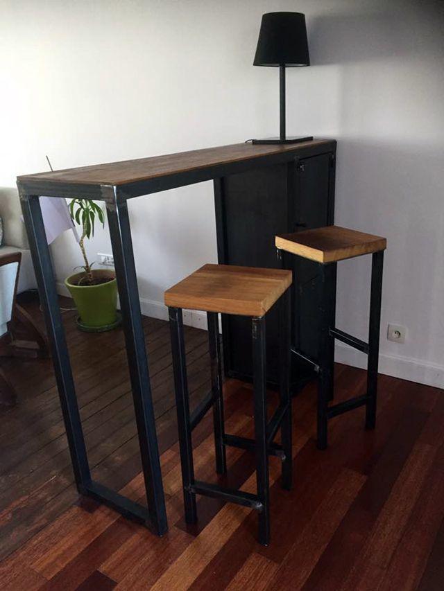 création sur mesure meuble industriel bois mètal brocantetendance