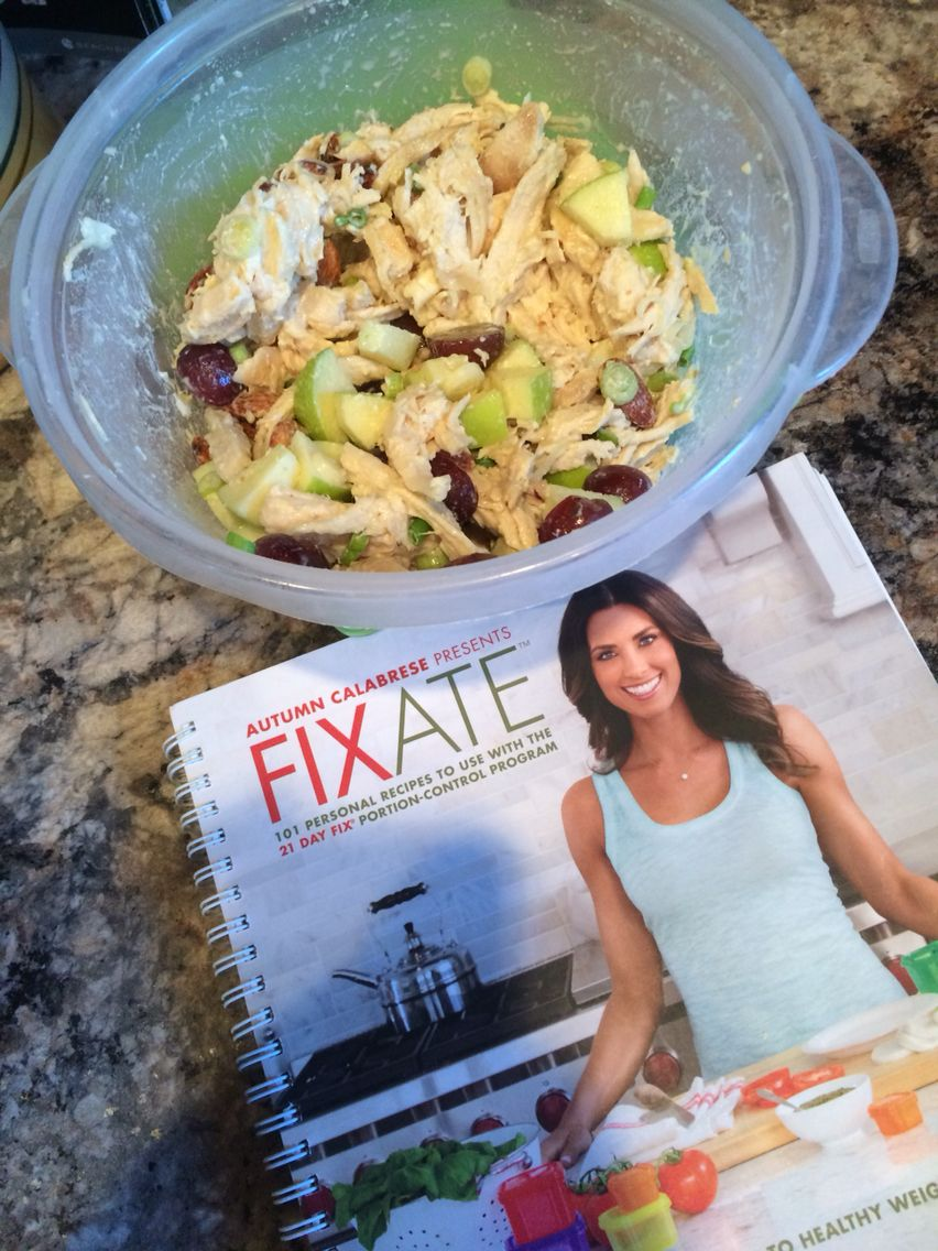 Creamy chicken salad from my fixate cookbook, yes please:) yum!❤️ #21dayfixapproved #cleaneats #youneedthis