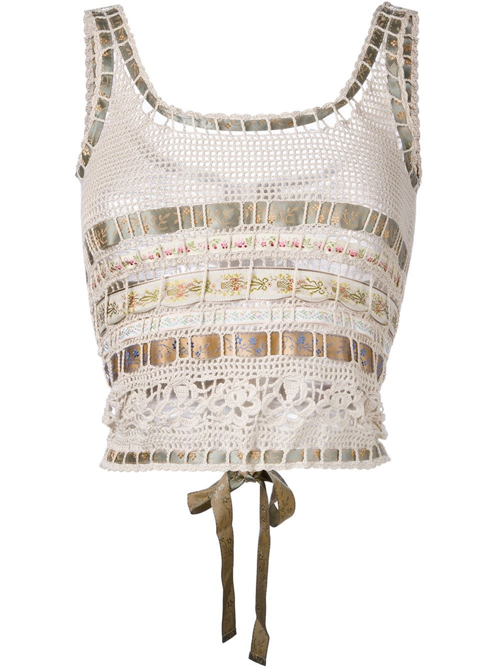 Etro Cropped Crochet Top Ropa Pinterest