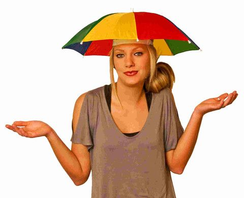 e43ae7ef2 Expecting rain? Why carry around a cumbersome umbrella when you ...
