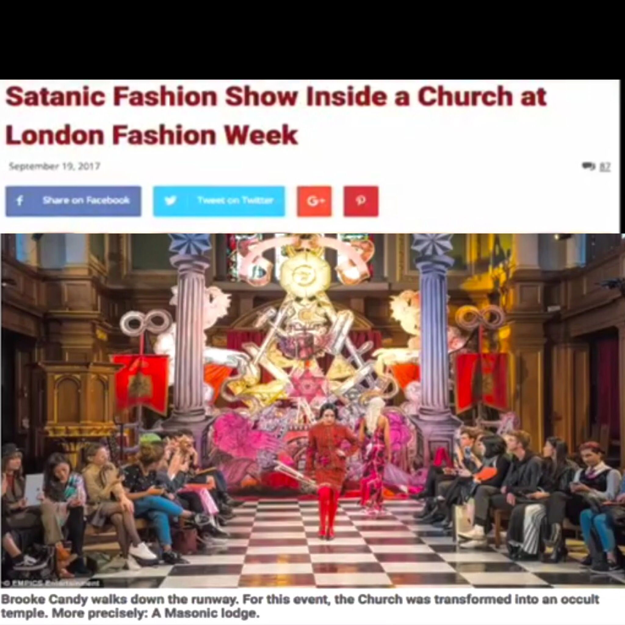 A satanic fashion show took place in a catholic church seems odd a satanic fashion show took place in a catholic church seems odd they are conditioning us so that this seems normal nothing wrong with having a satanic buycottarizona