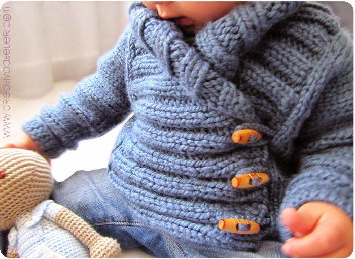 Gilet de bébé 12-24 mois (9-12 mois,6-9 mois, 3-6 mois) Tuto original  (cliquez sur la bannière ci-dessous)   Pour tri. 71c567ea8e6