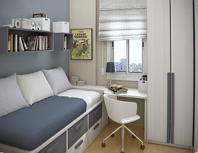 Amenager une petite chambre chambre pinterest design for Amenager chambre 6m2