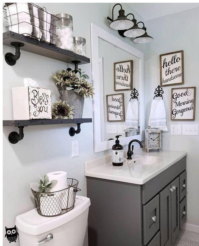 Photo of 57 farmhouse bathroom organization ideas 39