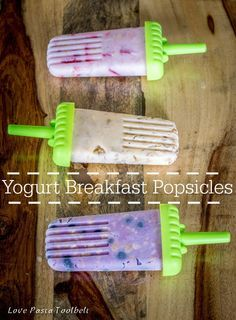 Have your yogurt parfait in a popsicle with these Breakfast Yogurt Popsicles with Yoplait®- Love, Pasta and a Tool Belt #ad #sweetsummersnack | sweets | dessert | breakfast | recipes | food |