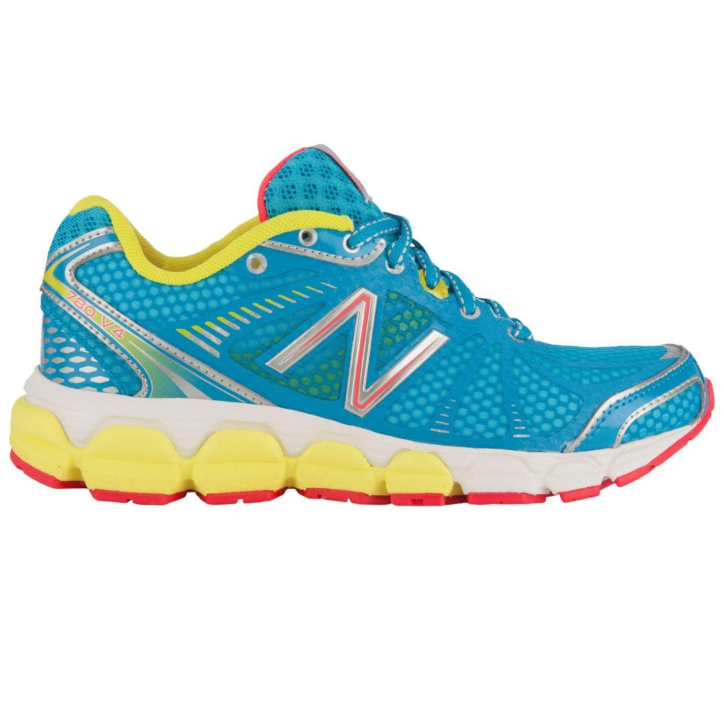 New Balance Blue Yellow Ladies Running Shoes Running Shoes Balance W780v4 Ladies