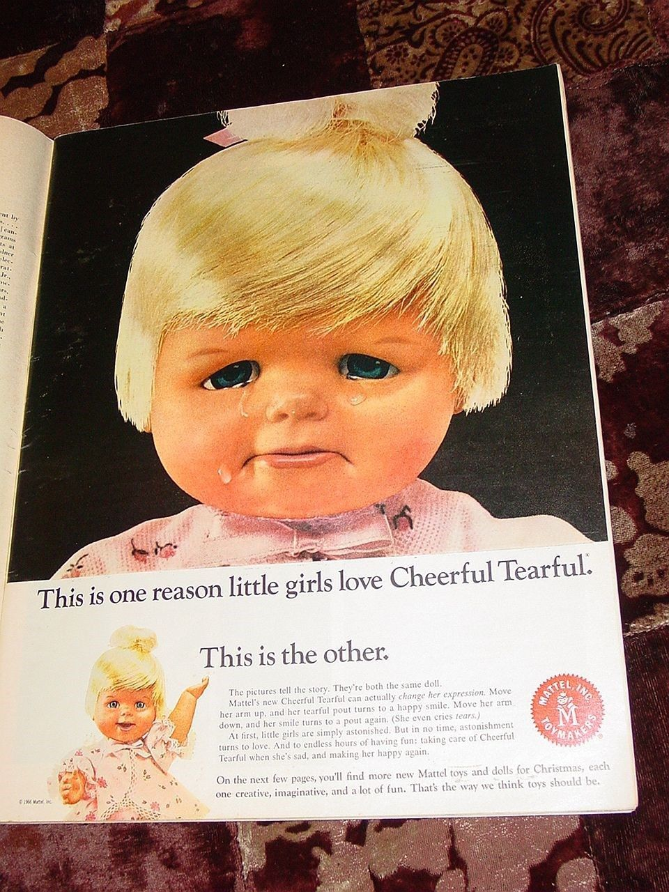 Vtg 1966 Mattel Toy Christmas Print Advertising Booklet Pull Out Catalog x 15 | eBay