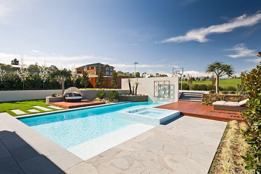 Natalie Court Home With Incredible Patio Design Backyard Resort Backyard Pool Basketball Court Backyard