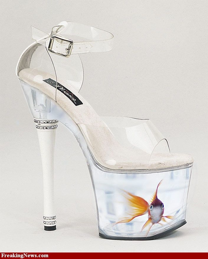 fish tank heels - - they have officially run out of ideas for new shoes!