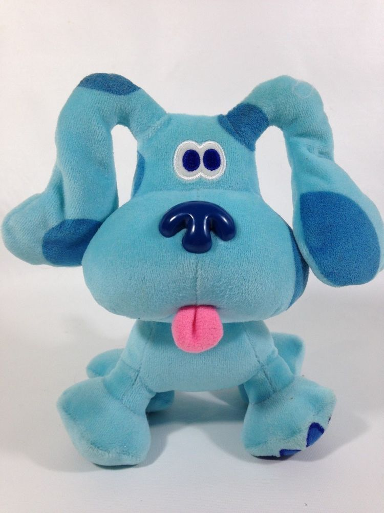 Blues Clues Blue Puppy Dog Toy Viacom Eden Nick Jr Plush Doll