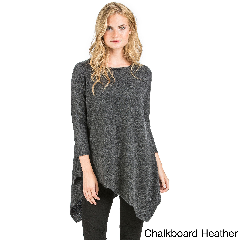 Ply womenus uneven hem tunic sweater products pinterest free