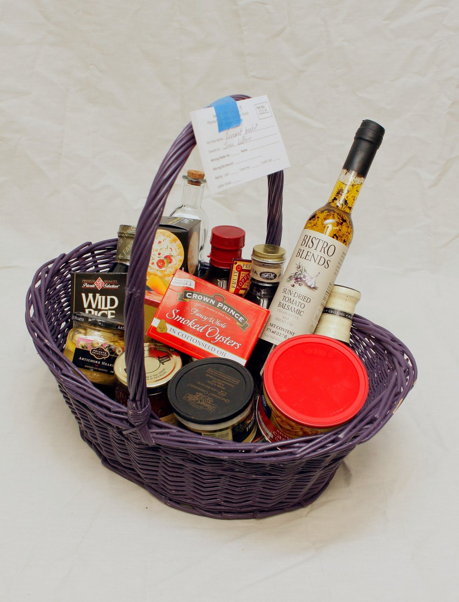 Great basket that will be in our silent auction saturday