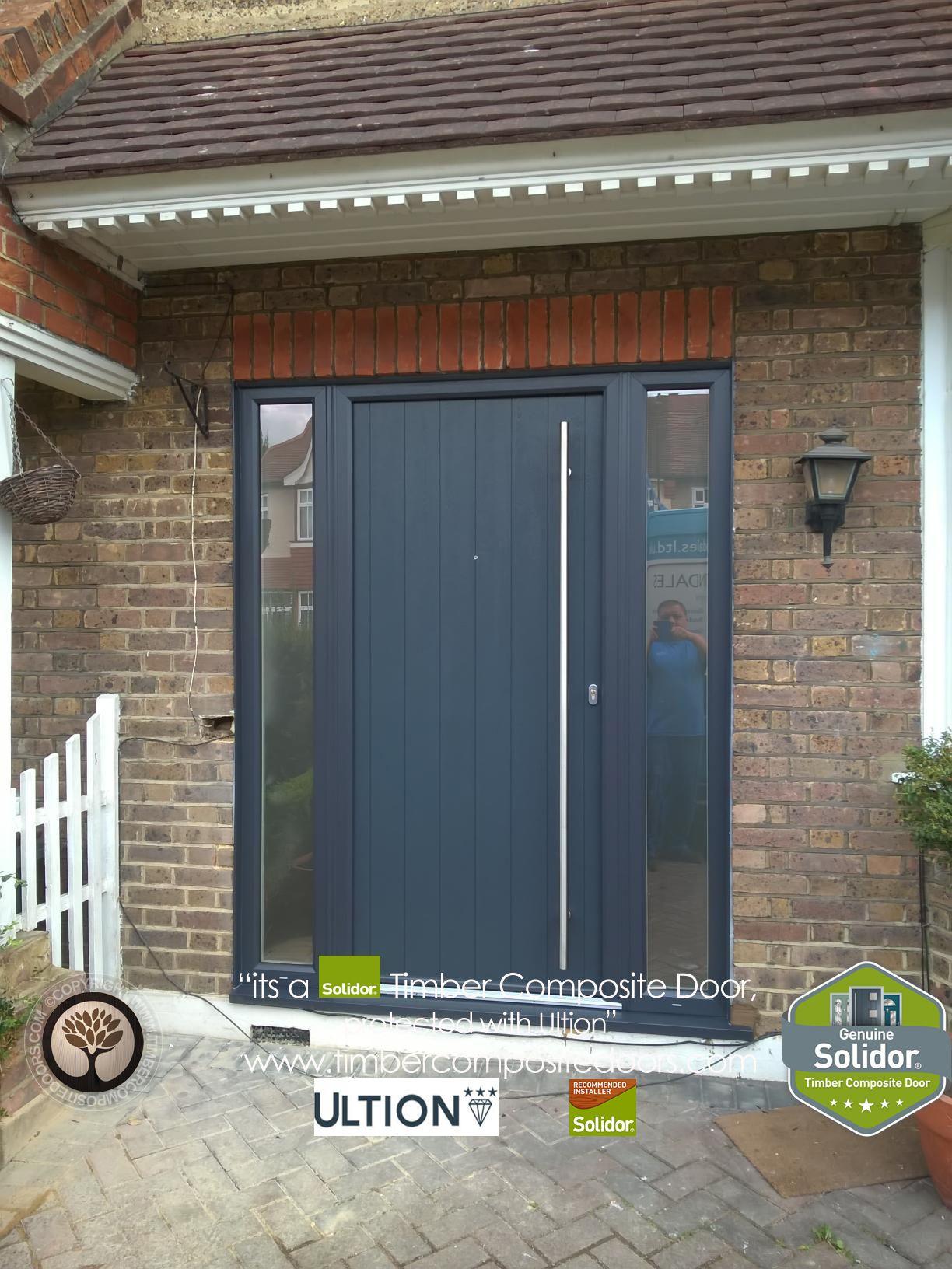 Timber Composite Doors 12 Months Interest Free Credit By Timber Composite Doors Real Pictures Composite Front Door Grey Composite Front Door Garage Door Design