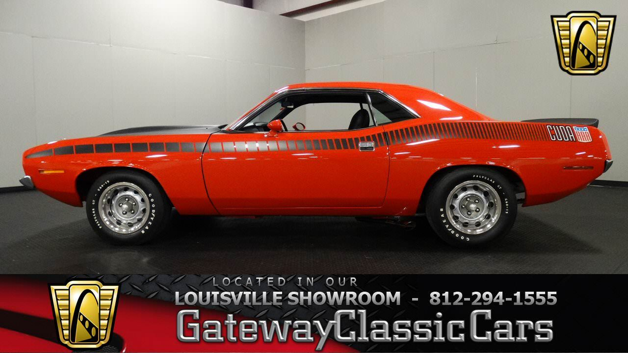 For sale in our Louisville, Kentucky showroom is a Rally Red Coupe 1970 Plymouth Barracuda AAR 340 CID V8 4 Speed Manual. Click for…