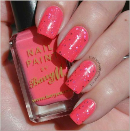 have some sparkles with glitter nails  pink sparkly nails