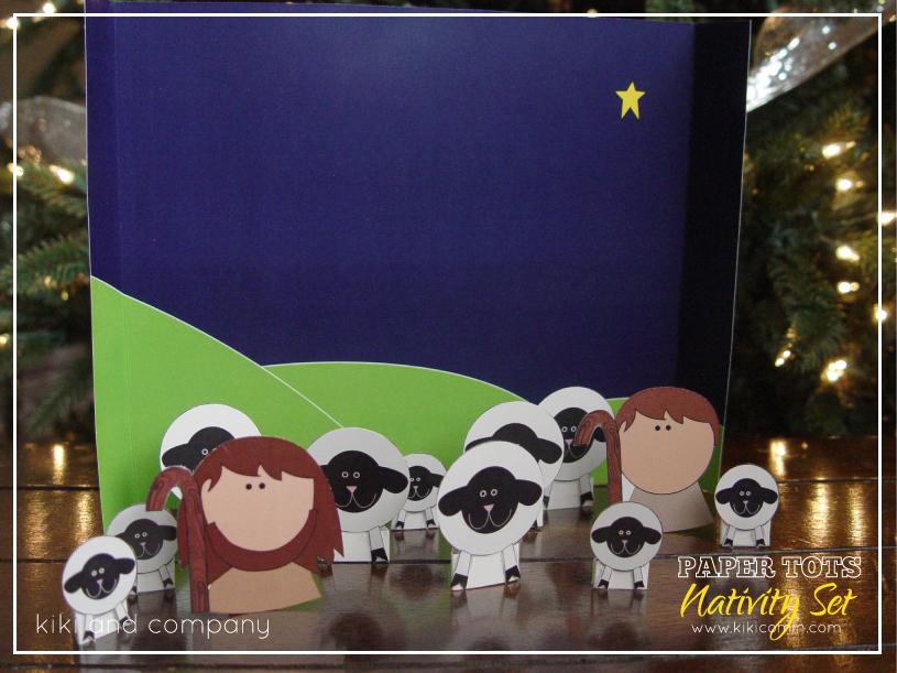 Printable Nativity Set at Kiki and Company #christmas