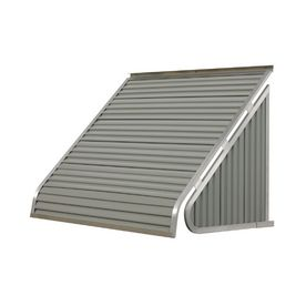 Nuimage Awnings 36 In Wide X 20 In Projection Graystone Solid Slope Window Awning 35x5x3645xx05x Aluminum Window Awnings Window Awnings Windows Doors