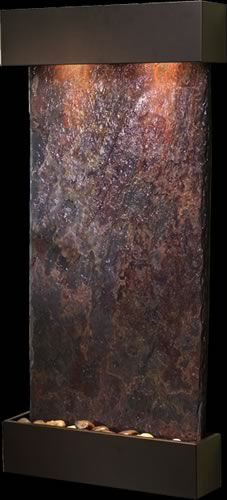 Adagio Whispering Creek Solid Slate Indoor Wall Mounted Water Fountain With Images Water Fountain Water Wall Fountain Indoor Water Fountains