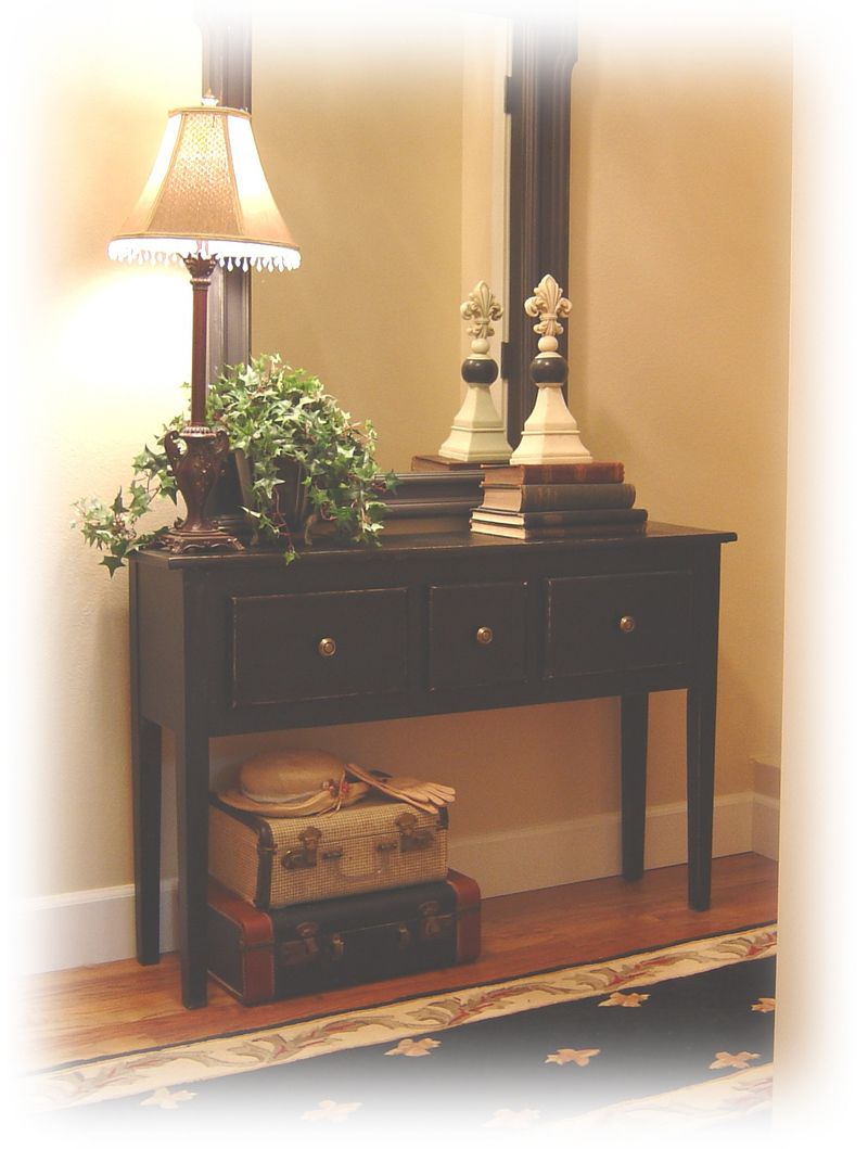 astonishing black entrance hallway furniture | new old entry table | Front entryway decor, Hall table ...