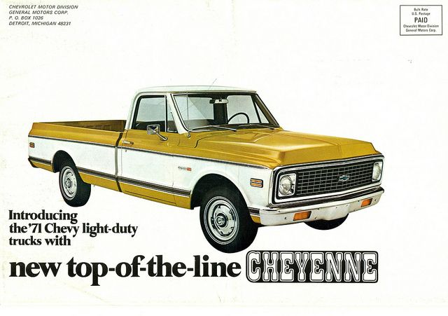 1971 Chevrolet Cheyenne Pickup Truck By Coconv Via Flickr Pickup Trucks Best Pickup Truck Pickup Trucks Quotes