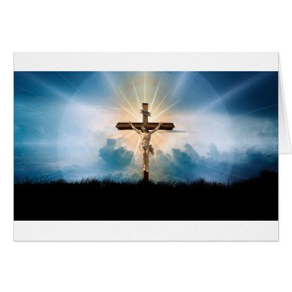 Jesus on the cross ministry card - christmas cards merry xmas family
