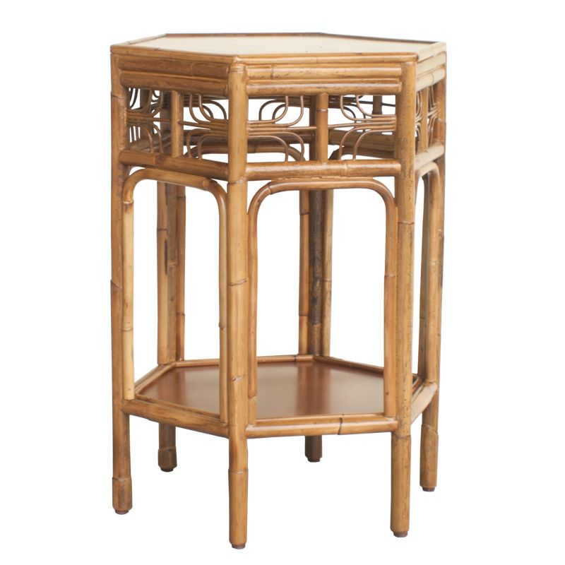 Indochine Octagonal End Table Vintagecane Red Egg Kiến Tr 250 C
