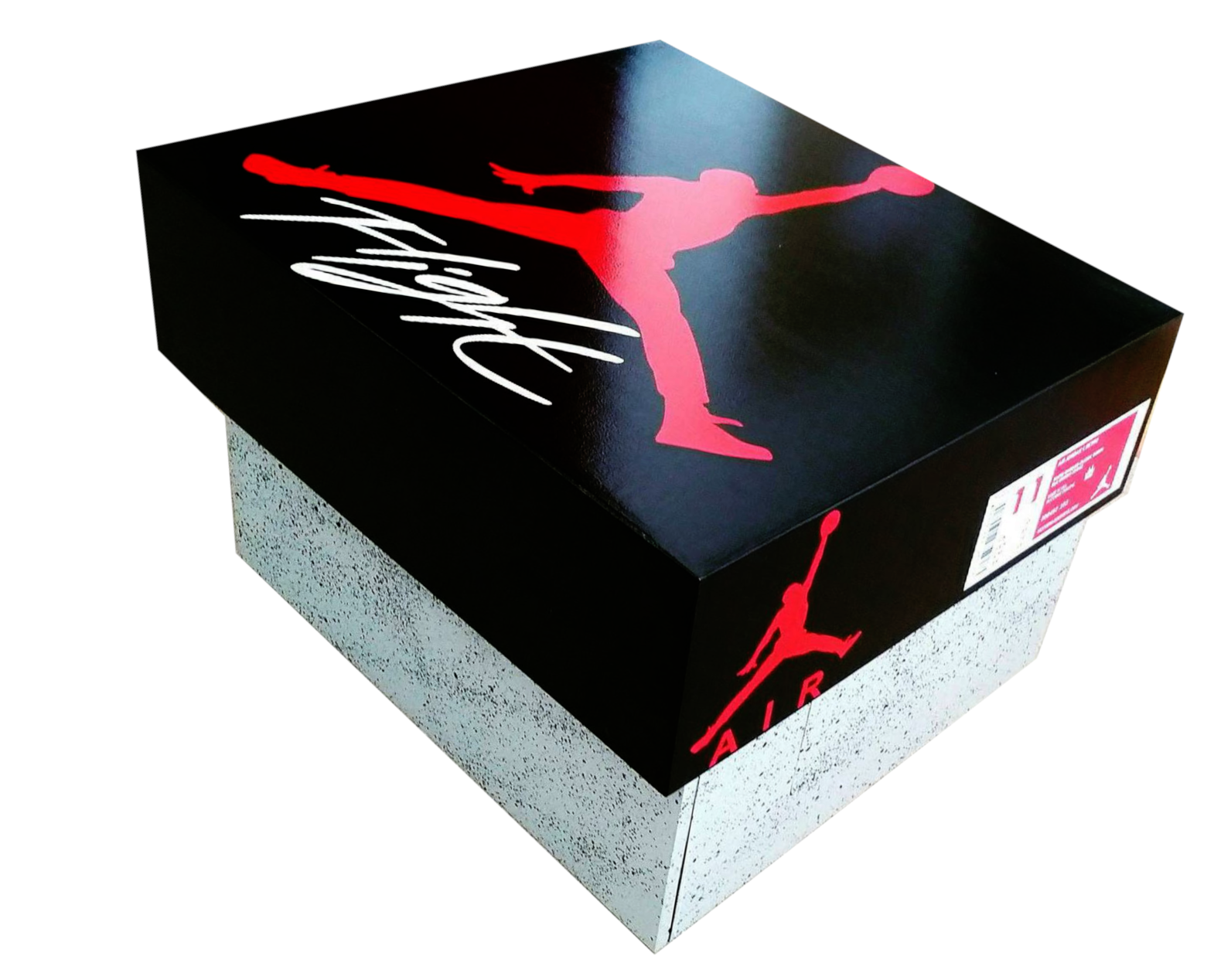 OUT OF STOCK…GIANT JORDAN FLIGHT SHOEBOX BLK/RED   Shoe box, Red ...
