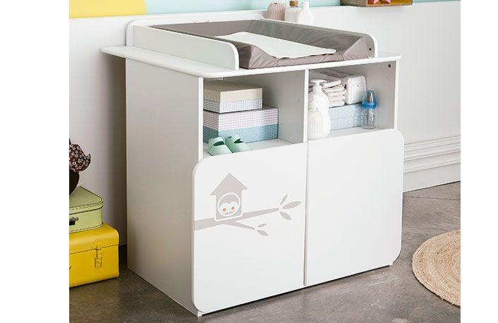 Armario cambiador bebé color blanco con búho | Dormitorios y muebles ...
