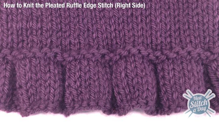Knitting Stitches For Edges : How to knitted a pleated ruffle edge. This would be a great edge for a simple...