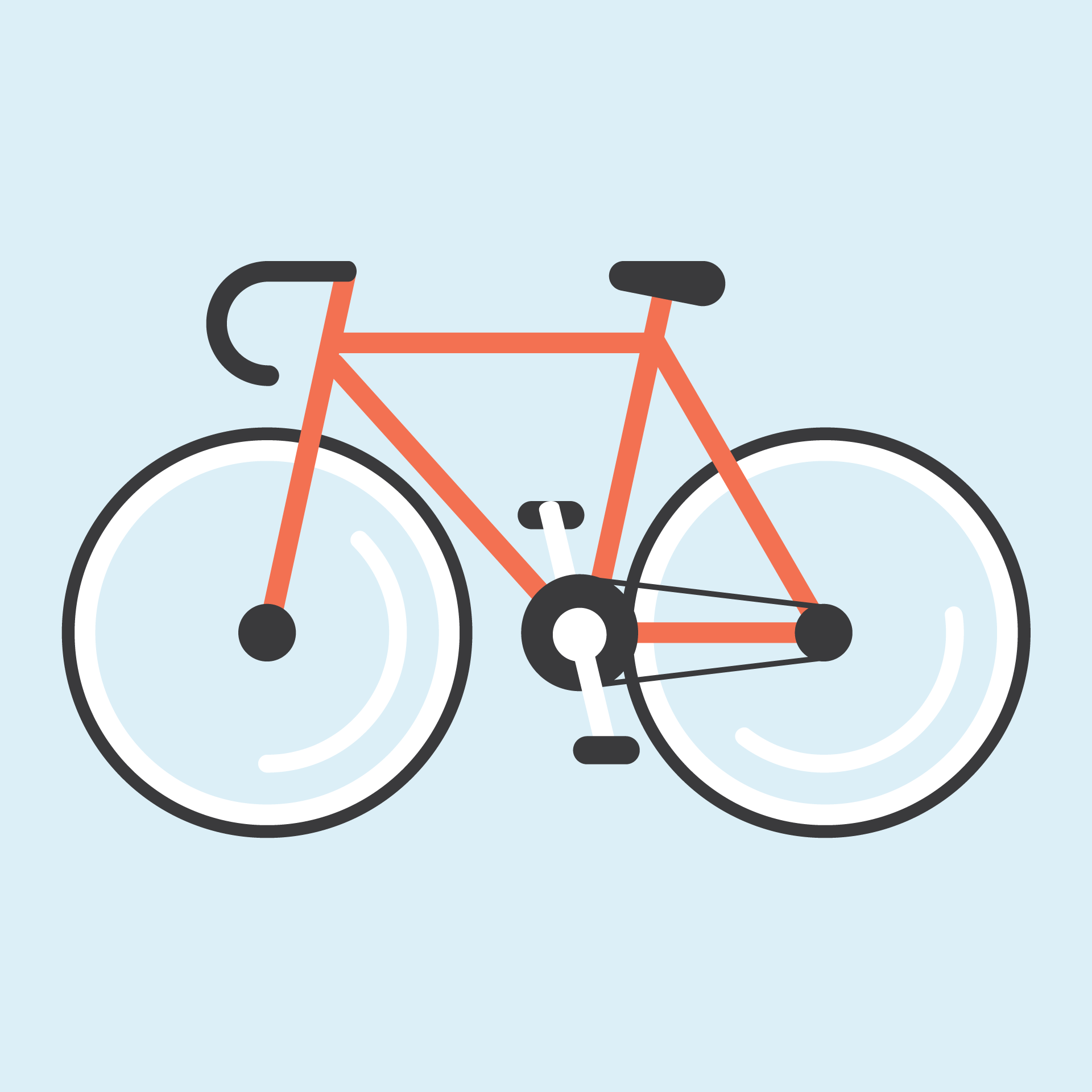 Bicycle Illustration By Cans Bici Arte