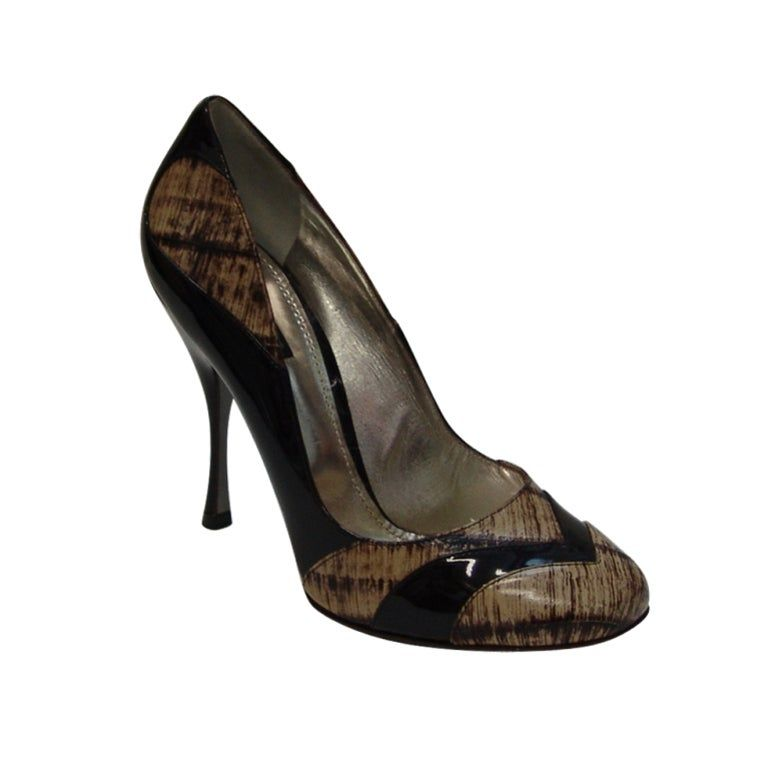 New Dolce & Gabbana brown pumps, heel 5