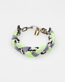 braided bracelet with neon, Need Supply Co.