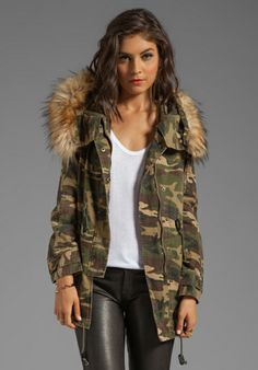 d30f1e7693ef6 Army fatigue jacket with fur collar - Google Search | Slayed ...