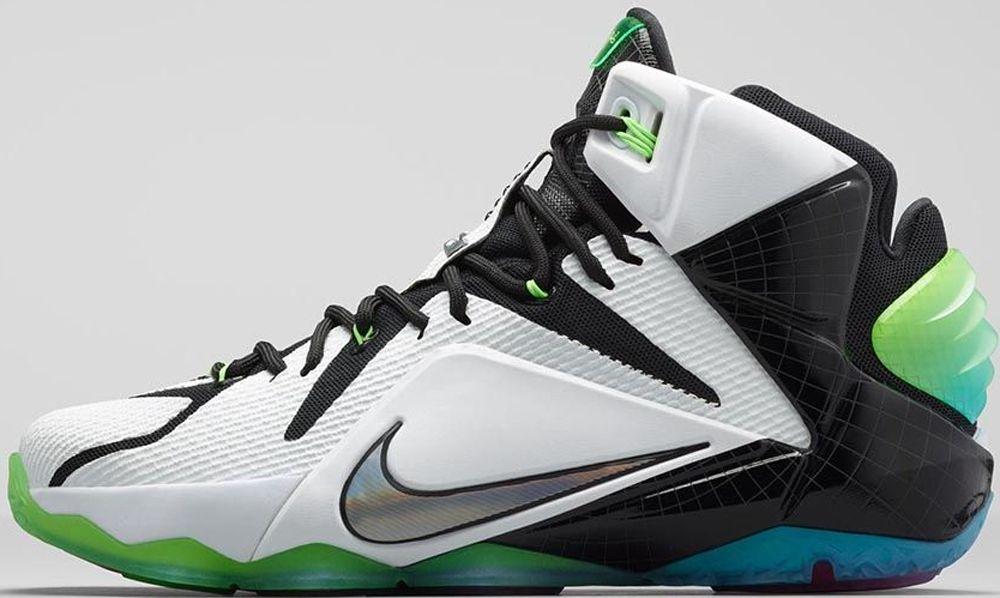Nike LeBron 12 AS White/Multi-Color-Black