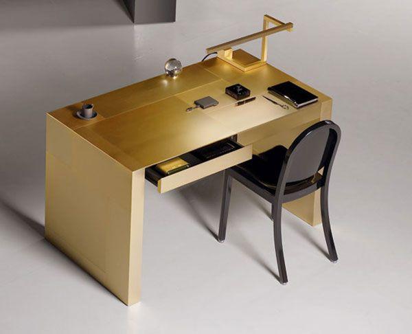 Adelchi Gold Plated Writing Desk By Armani Casa