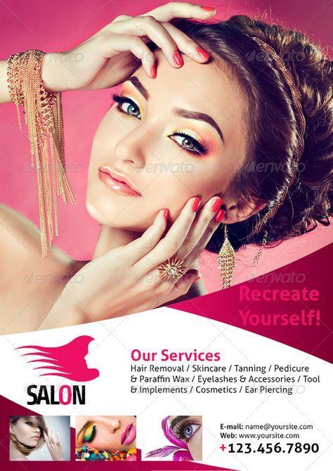 Beauty Salon A4 Flyer | Beauty salon posters, Makeup ...