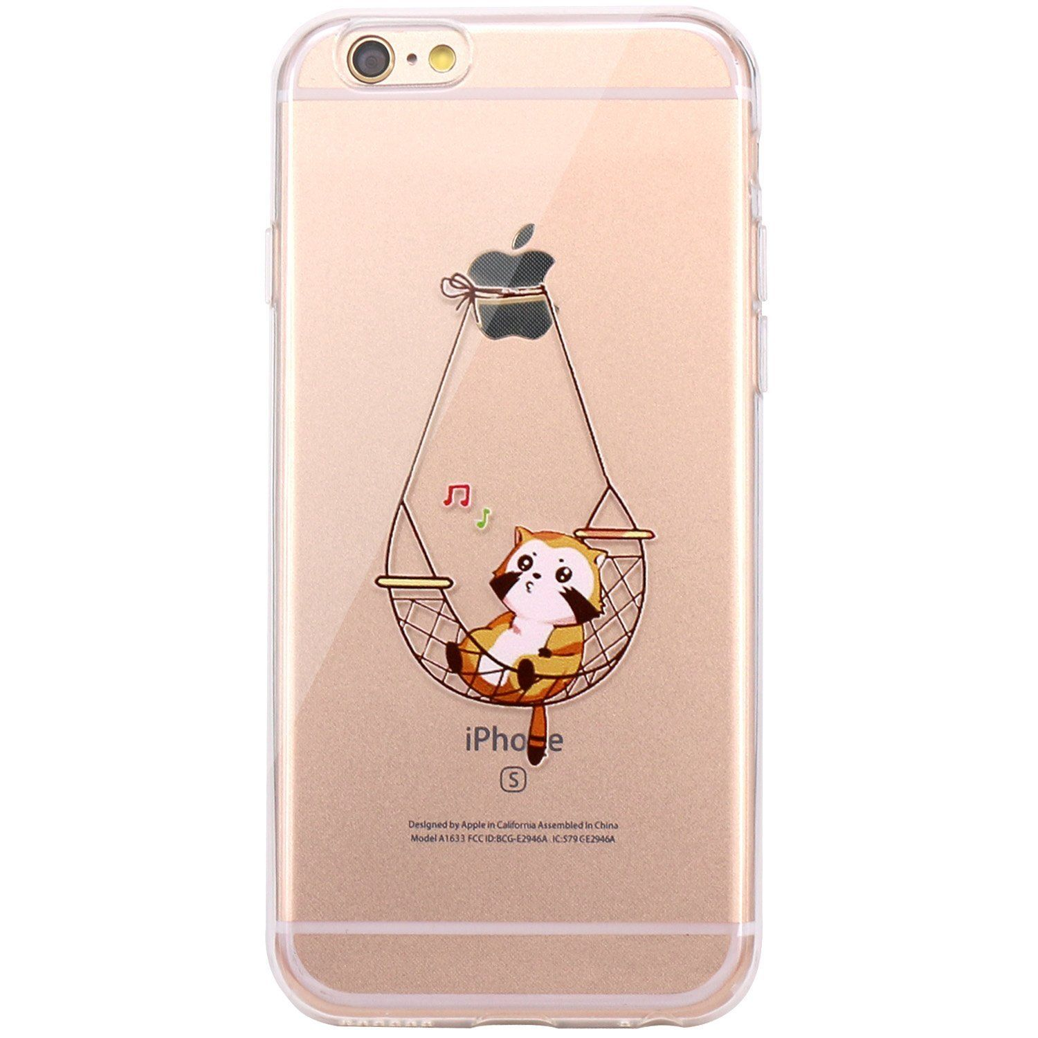 c38afebe758c iPhone 6 Case, JAHOLAN Amusing Whimsical Design Clear Bumper TPU Soft Case  Rubber Silicone Skin Cover for iPhone 6 6S - Eating Giraffe