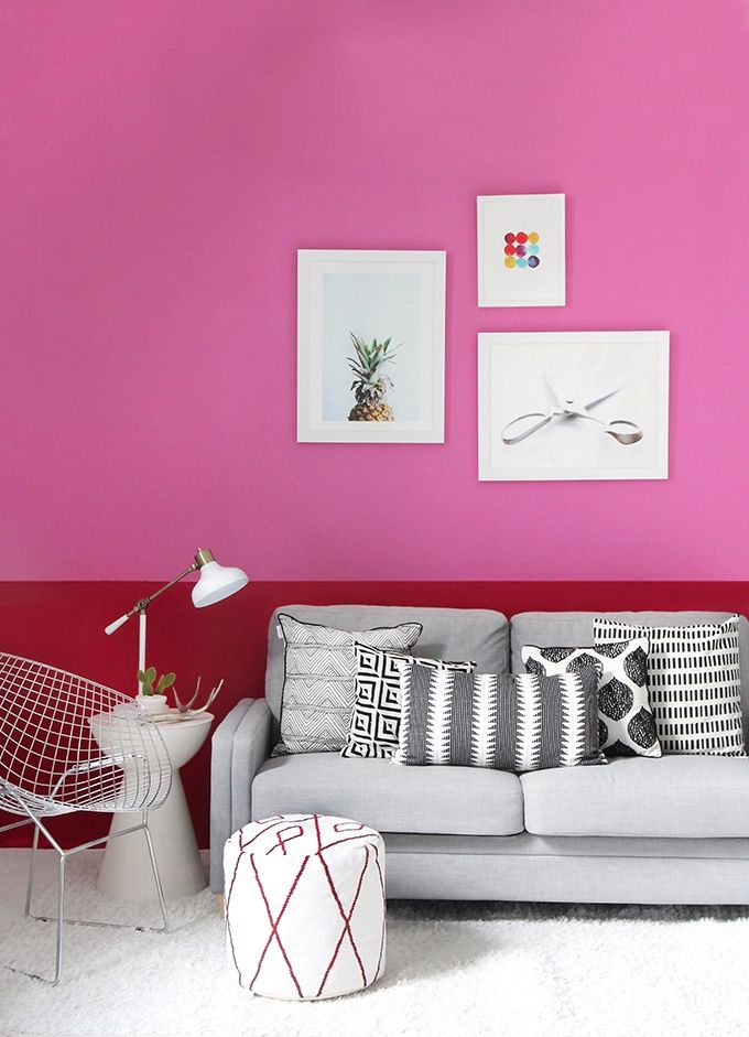 I SPY DIY STUDIO | Pink Colorblock Wall | For The Home | Pinterest ...