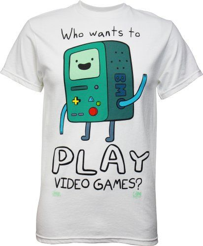Adventure Time BMO Who Wants to Play Video Games? Men's T-Shirt